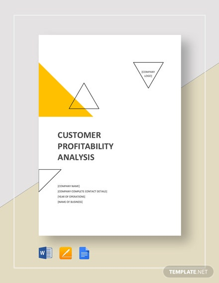 Customer Profitability Analysis Template