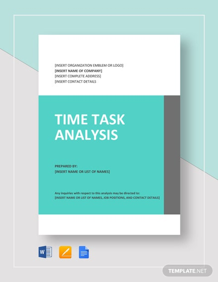 Time Task Analysis Template