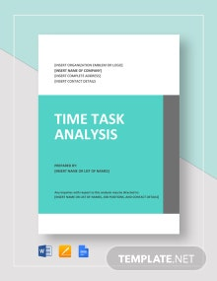 Time Task Analysis Template
