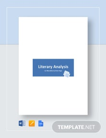 Literary Analysis Sample Template