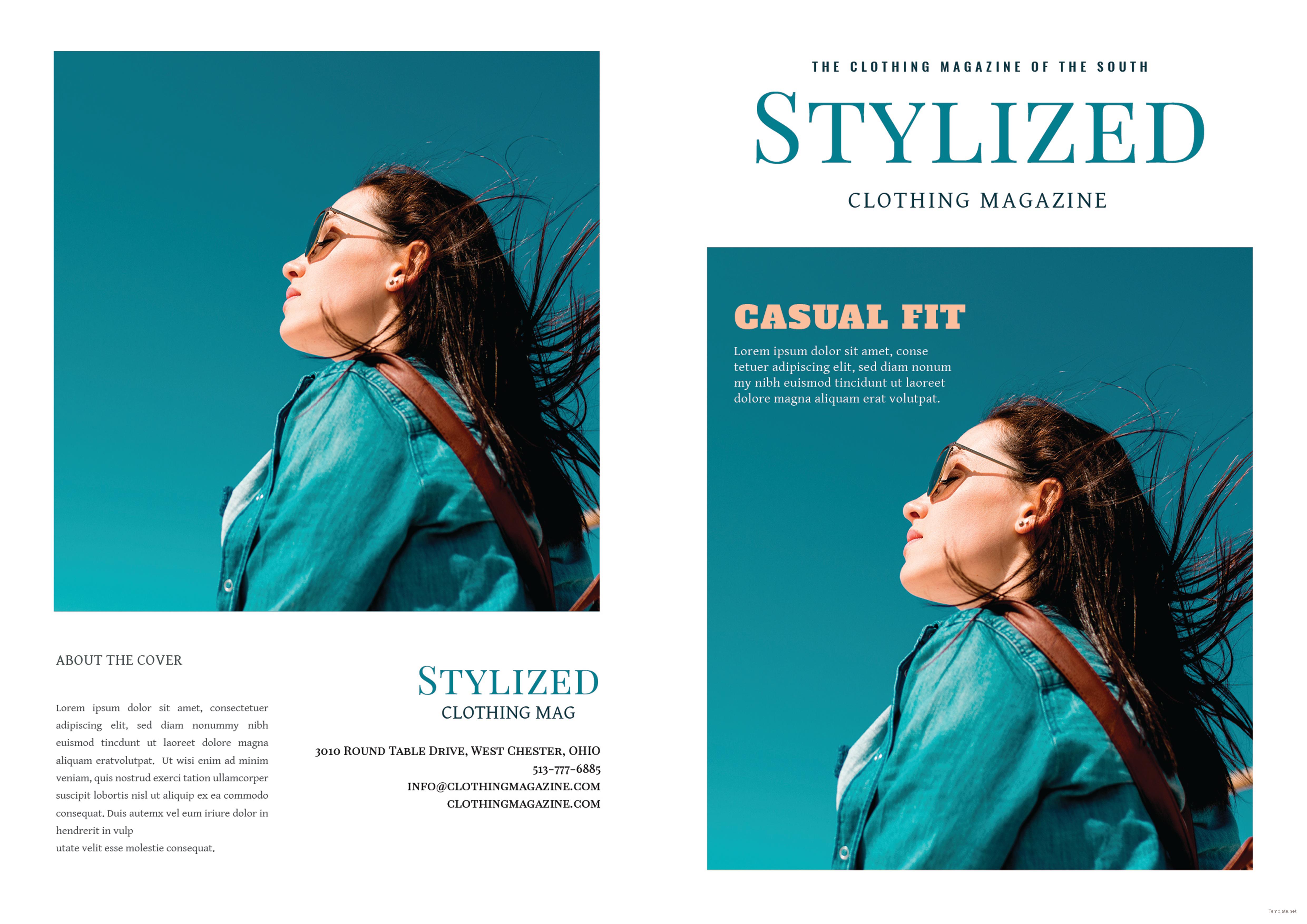 Clothing Magazine Template 1