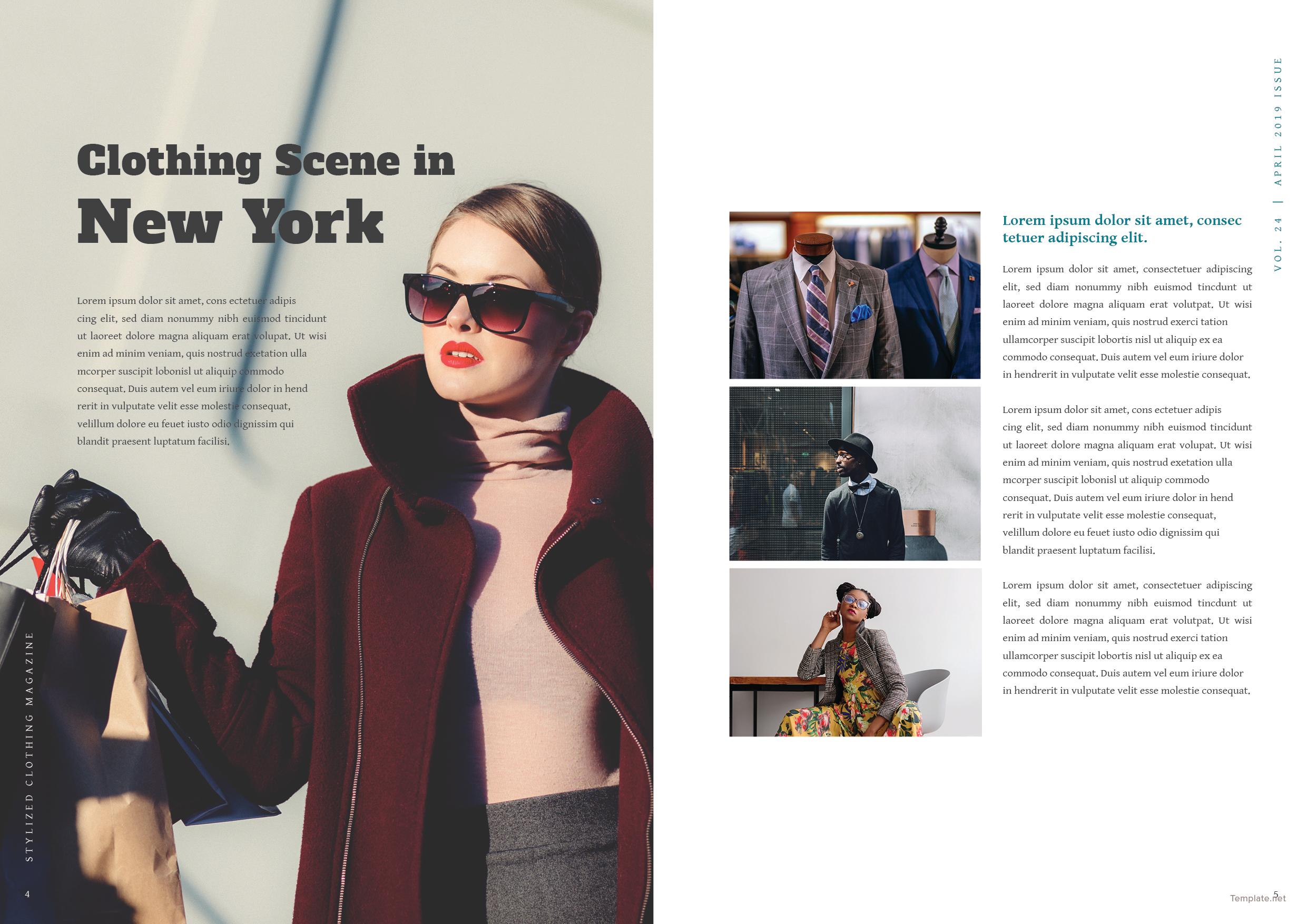 Clothing Magazine Template 3