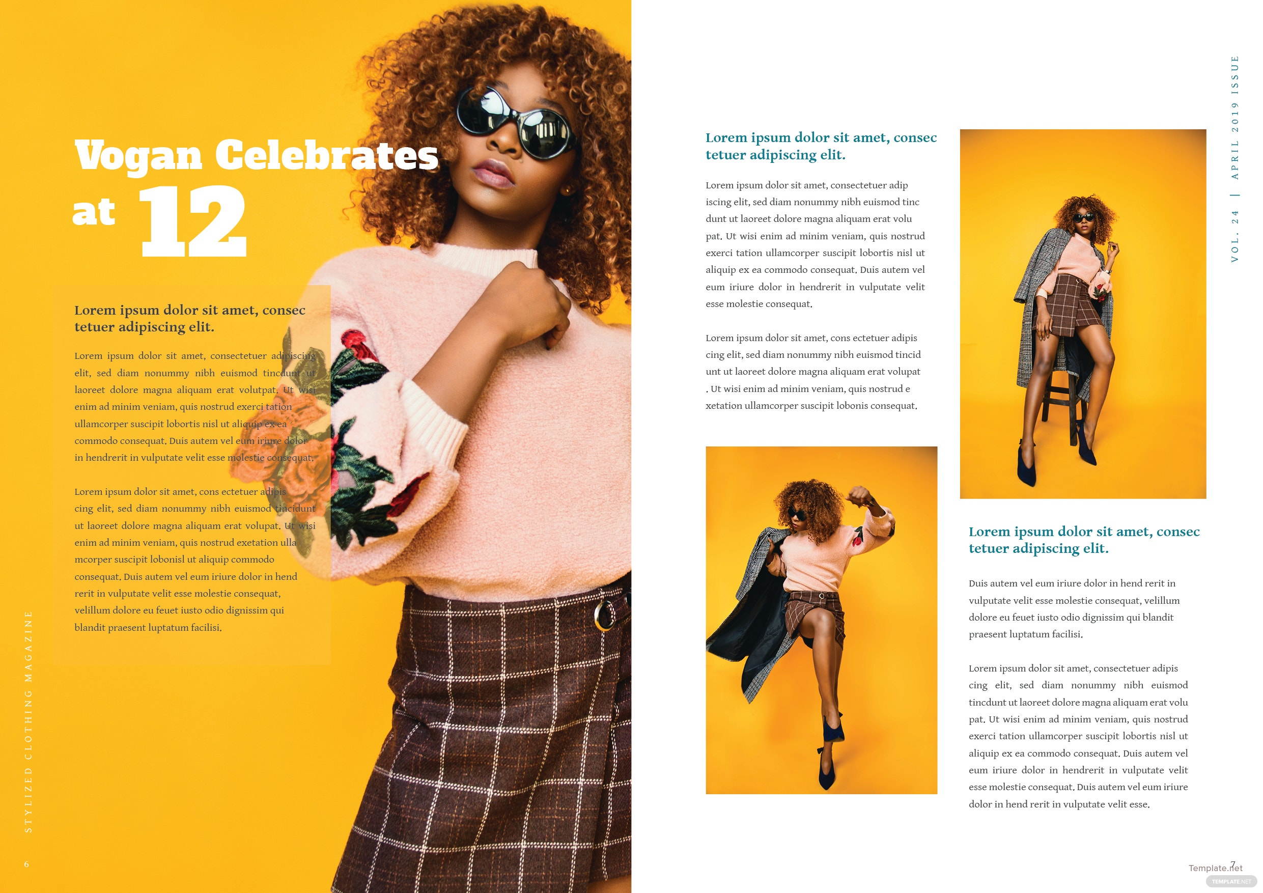 Clothing Magazine Template 4