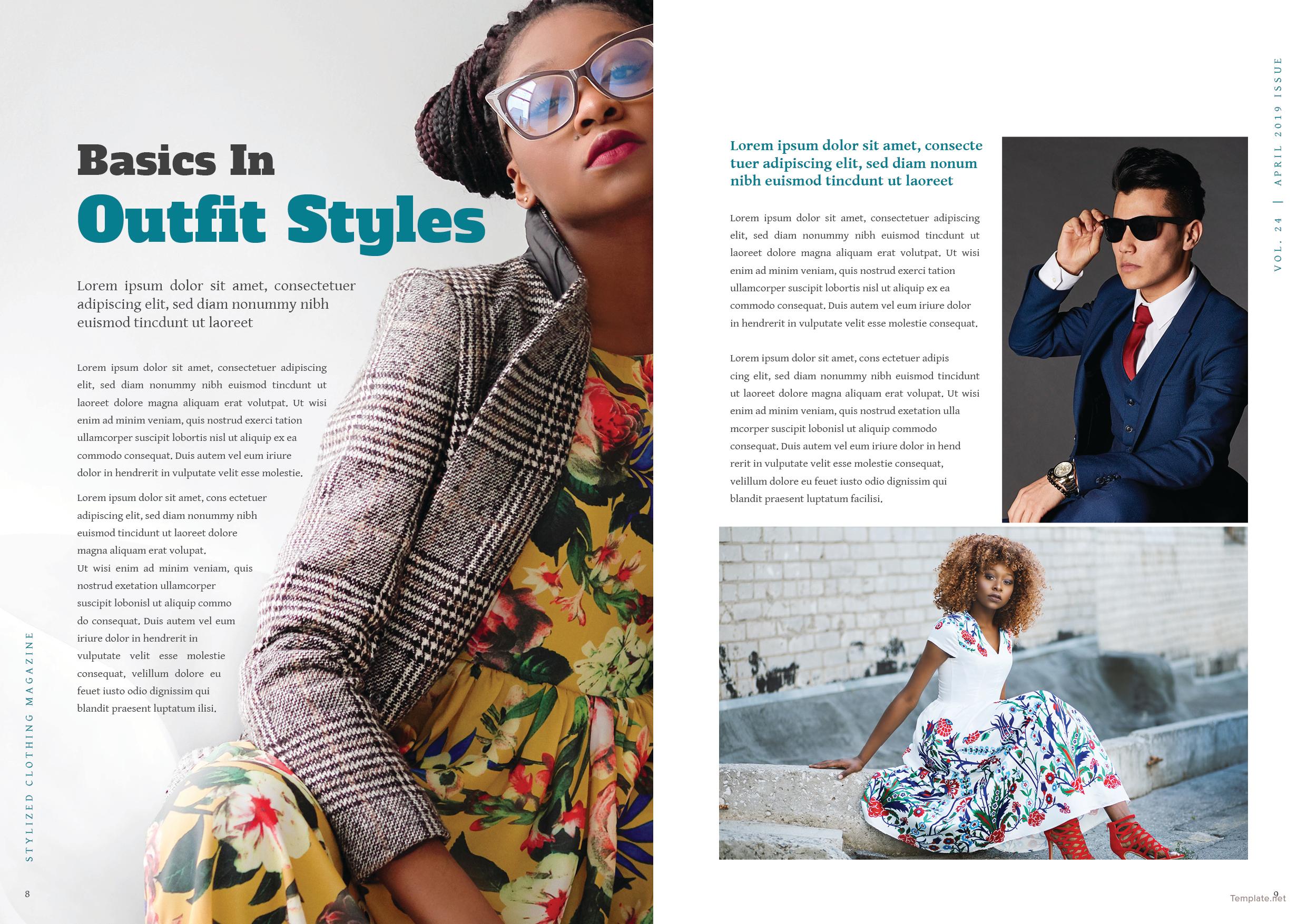 Clothing Magazine Template 5