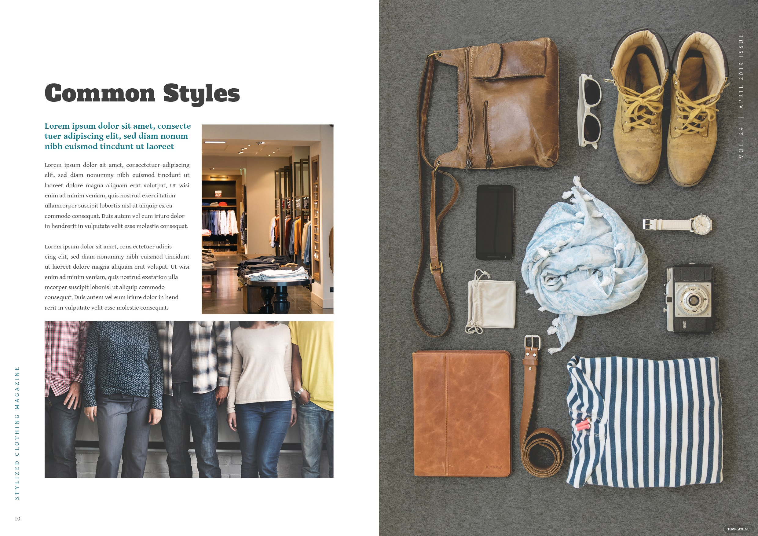 Clothing Magazine Template 6
