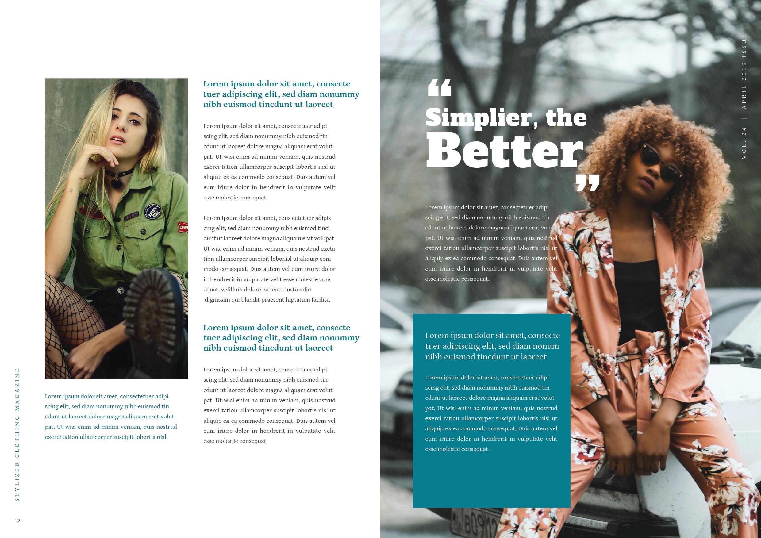 Clothing Magazine Template 7