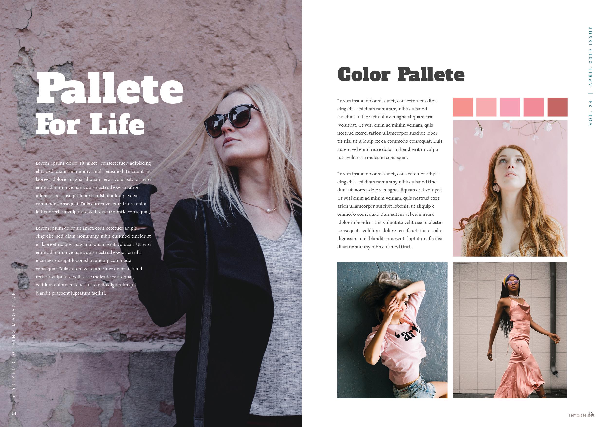 Clothing Magazine Template 8