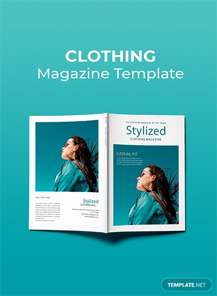 Free Clothing Magazine Template