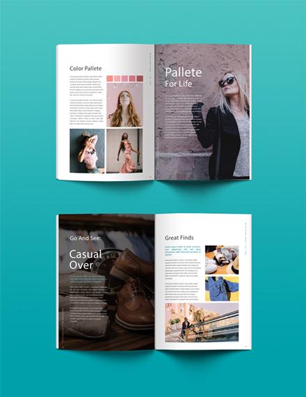 Free Clothing Magazine Template