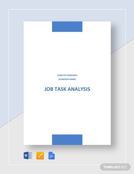 Job Task Analysis Template