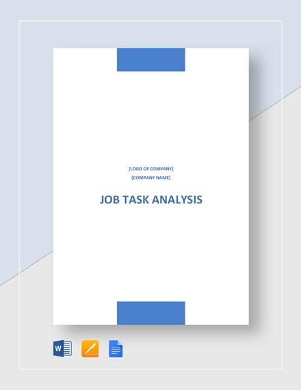 Job Task Analysis Template