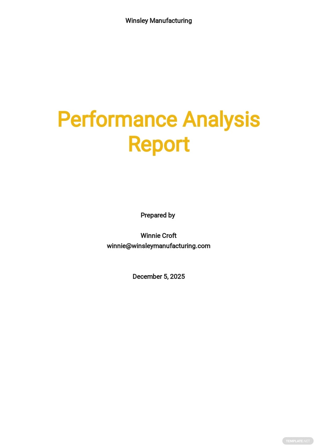 Performance Analysis Report Template.jpe