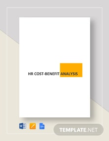 Simple HR Cost Benefit Analysis Template