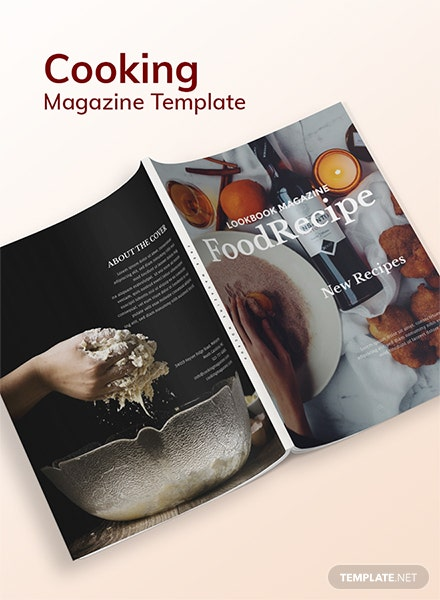 Free Cooking Magazine Template