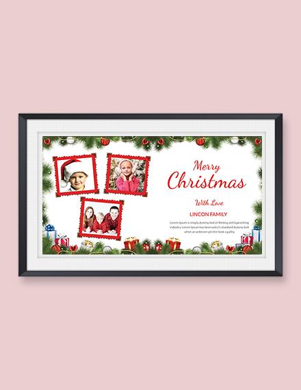 Creative Christmas Photo Card Template