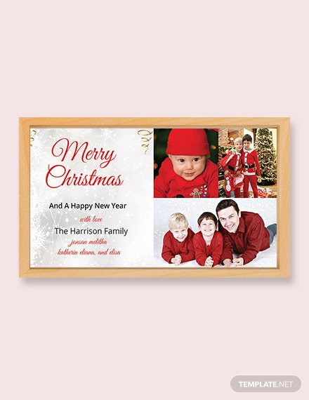 Vintage Christmas Photo Card