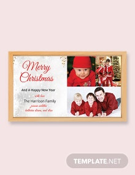 Vintage Christmas Photo Card Template