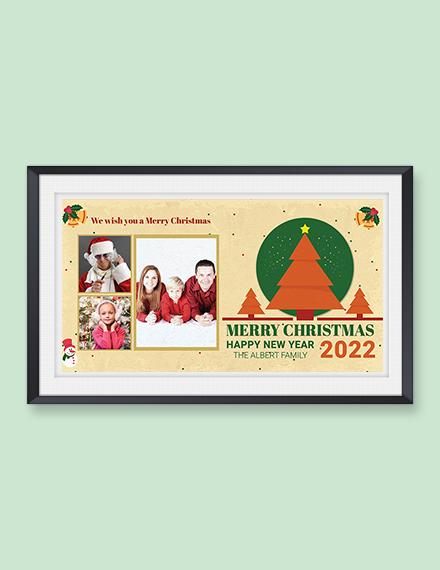 Retro Christmas Photo Card