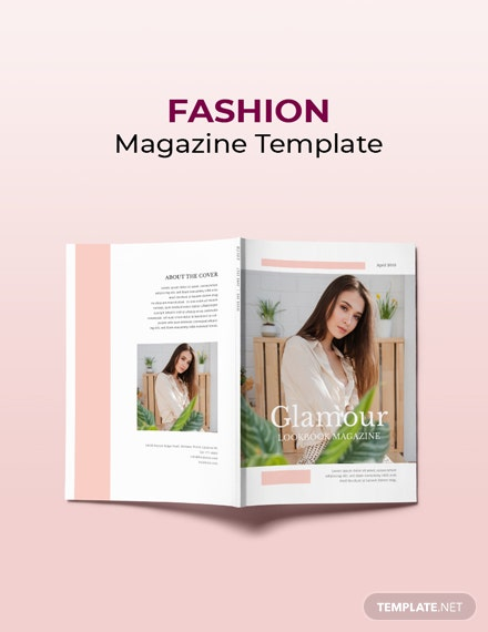 Free Fashion Magazine Template