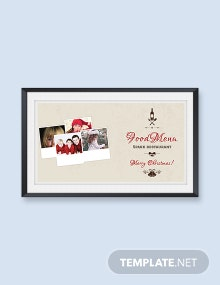Christmas Photo Collage Card Template