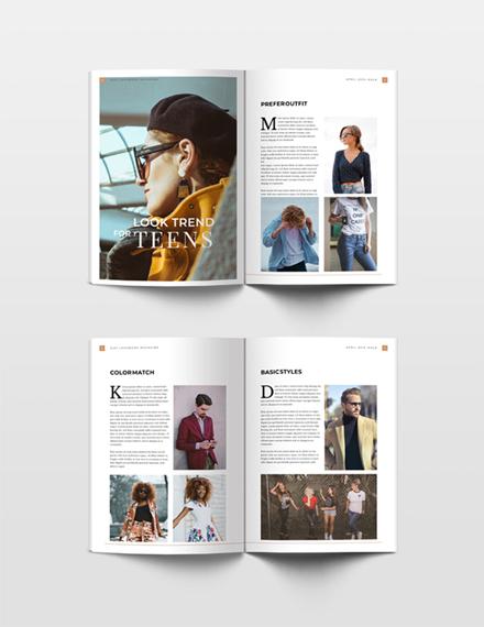 Free Lookbook Magazine Template