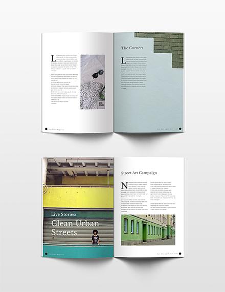 Free Minimalist Lookbook Magazine Template