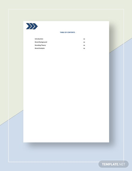 Brand Analysis Template