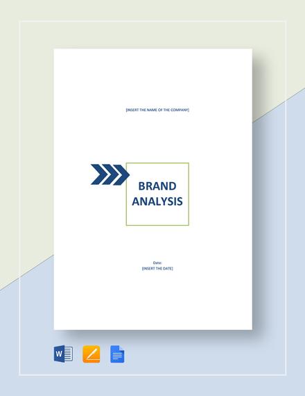 Brand Analysis Template