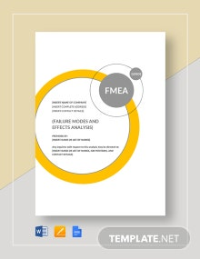 FMEA  Analysis Template