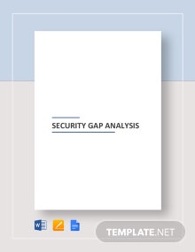 Security Gap Analysis Template