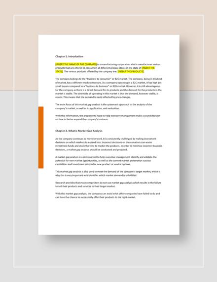 Market Gap Analysis Download