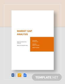 Market Gap Analysis Template