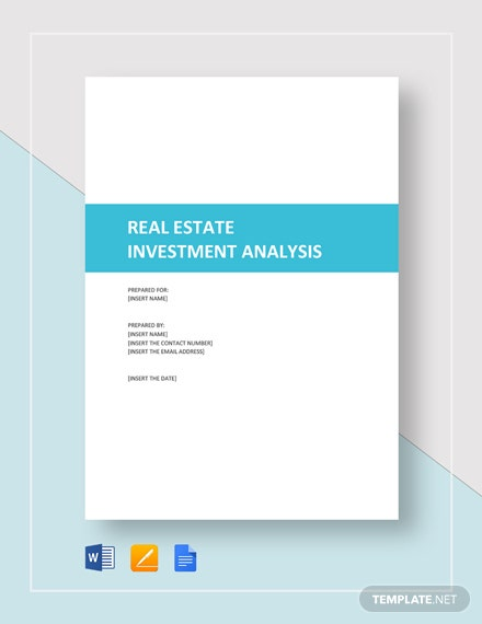 Real Estate Investment Analysis Template