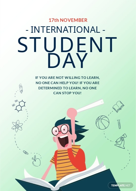 International Students' Day Greeting Card Template