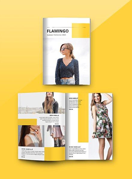 Free Fashion Catalog Template