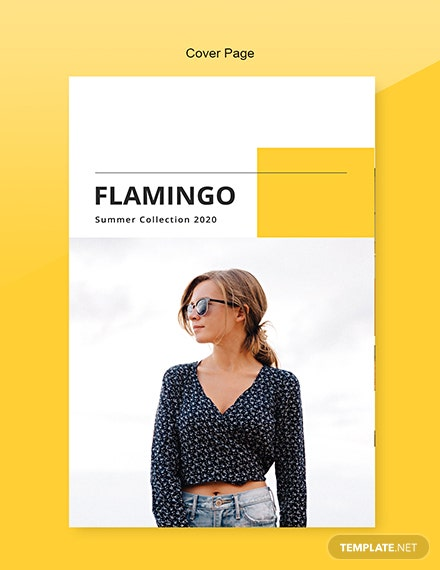 Free Fashion Catalog Template Front