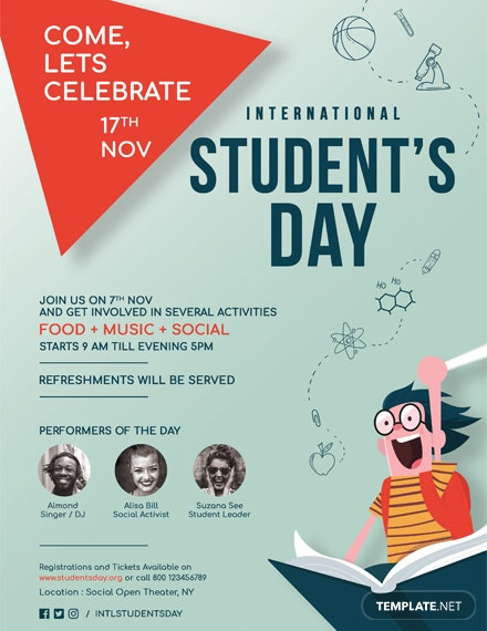 International Student's Day Poster