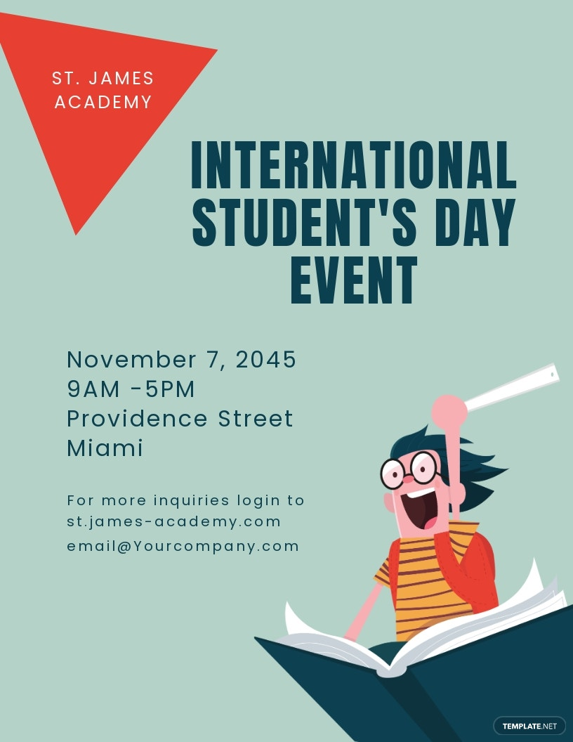 International Student's Day Flyer