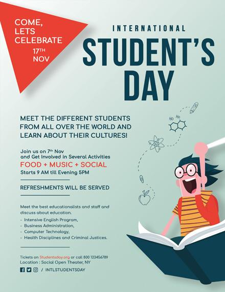 International Student's Day Flyer