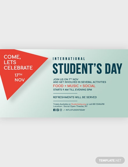 International Student's Day Facebook Post