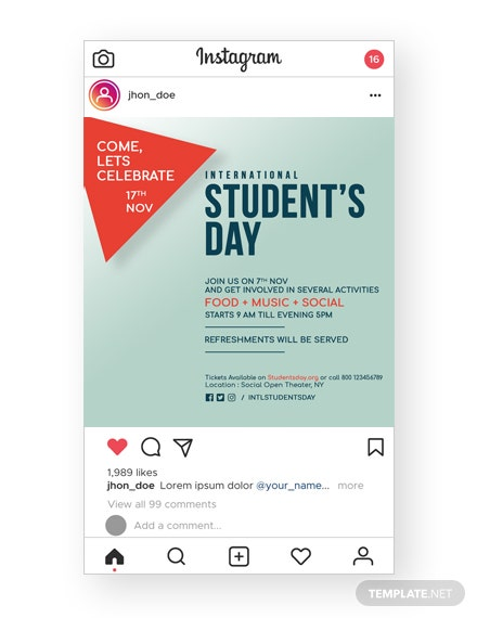 International Student's Day Instagram Story
