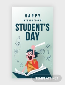International Student's Day Whatsapp Image