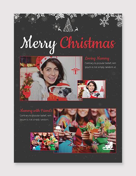 Free Christmas Photo Card Template