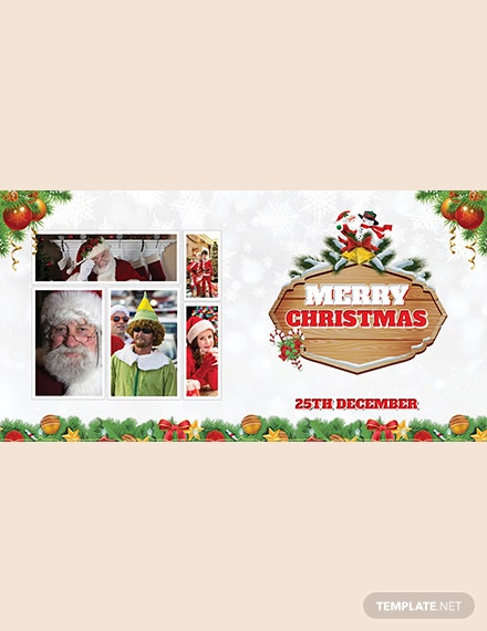 Simple Christmas Invitation Photo Card