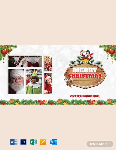 Free Christmas Invitation Photo Card Template