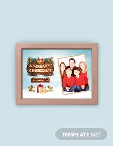 Free Family Christmas Photo Card Template