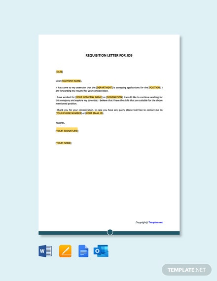 Free Requisition Letter for Job
