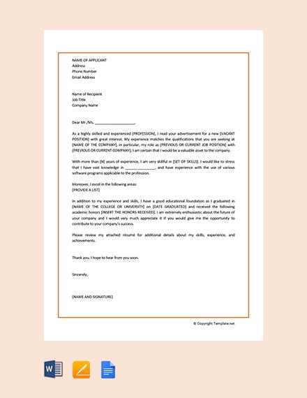 Free Sample Motivation Letter