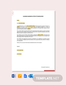 Free Closing Business Letters to Employees