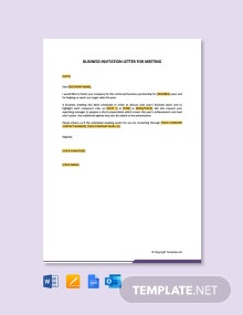 Free Business Invitation Letter for Meeting